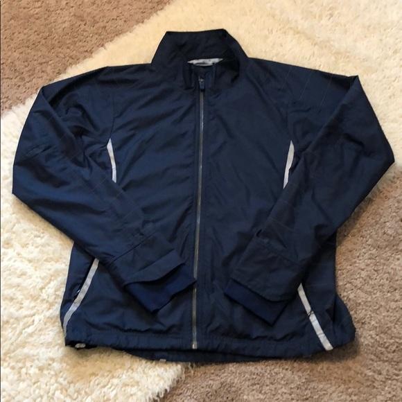 Athleta Jackets & Blazers - Athleta lightweight blue nylon zip up jacket Sz M